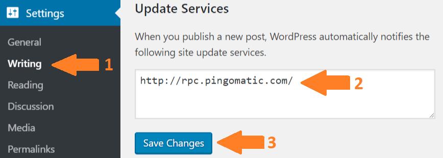 , 2020年做英文博客最常用的wordpress ping列表