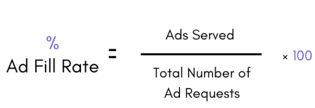 , 移动广告的填充率,展示率,点击率和渗透率分别是什么意思